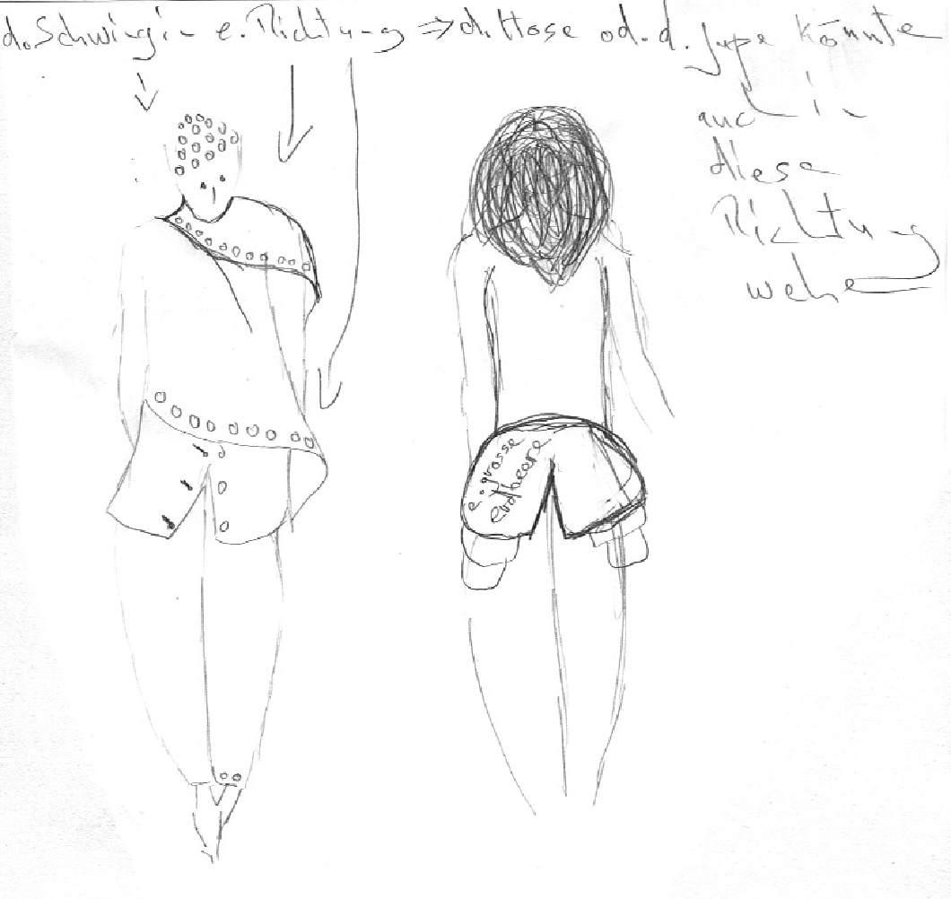 Modezeichnung Erbeerrock