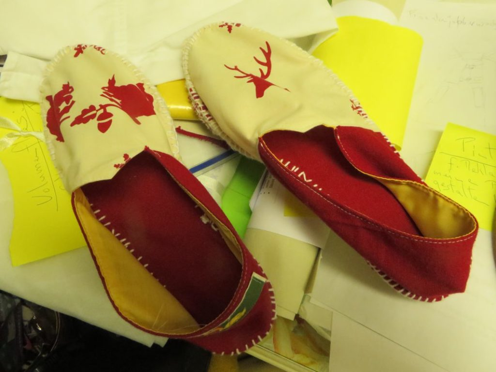 Espadrillos red-white 2